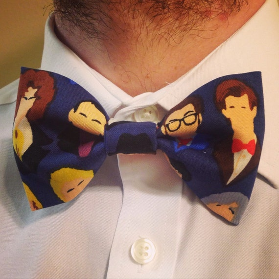 Many Faces Doctor Who Bowtie
