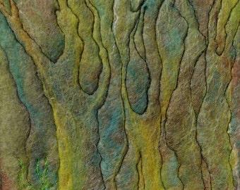 Forest Art Wall Hanging Needle Felting Wall Art Woodland Handmade UK