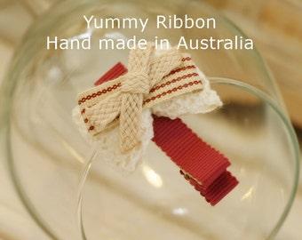 handmade ribbon hair clip / baby hair clip / girls hair clip / kids hair clip / toddler hair clip / infant hair clip / cute hair clip