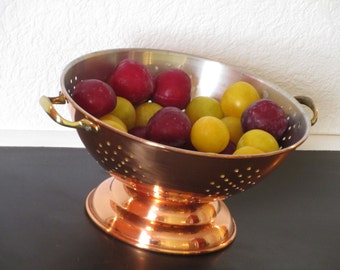 French Vintage Copper Colander - Copper Strainer - Beauty and Utility for your Kitchen