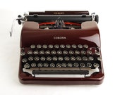Maroon Red Typewriter, Corona Sterling 'Floating Shift'
