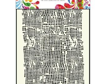 Burlap - Stencil - Mask - Dutch Doobadoo - A5 - Mixed Media - Altered Art - Laser Cut Plastic - Mixed Media - Gelli Printing