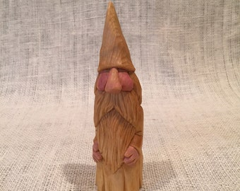 Gnome Hand Carved Pine