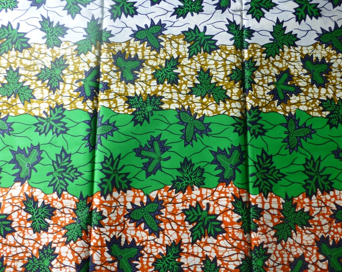 Super Wax Print/ African Fabrics For Dressmaking / Fabric for Sewing Dresses, Skirts, Bags and Head wrap Sold By yards