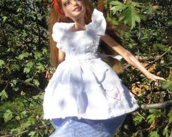 Barbie Alice in Wonderland Blue Dress and White Apron
