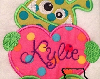 Love Monster Applique Machine Embroidery Design