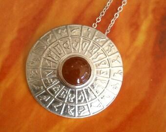 Sterling silver Stargate DHD pendant