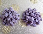 1960s Earrings - Original 1960s Earrings - Lilac Earrings - Plastic Earrings - Clip On Earrings - Flower Power - '60s earrings - Purple 60s