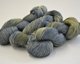 Hand dyed yarn pick your base - Moon Glow - sw merino cashmere nylon fingering dk worsted