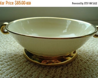STORE WIDE SALE Porcelain and Gold Bowl - Classy Italian Collectible [A]