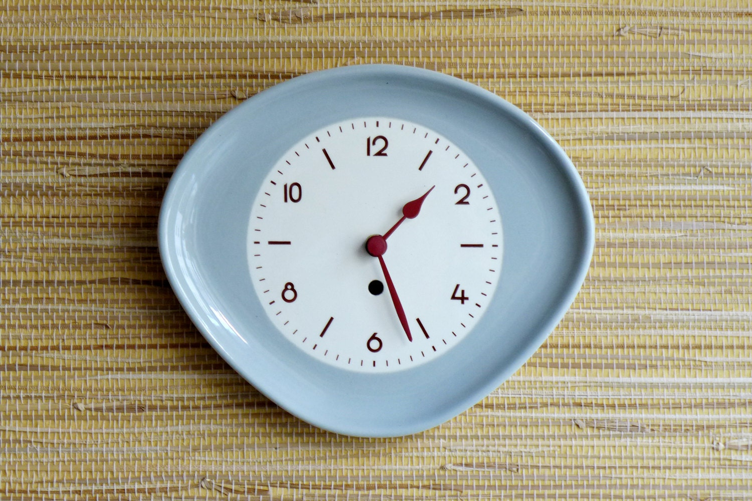 sale kitchen clock wall decor west germany porcelain by glowup