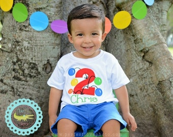 Personalized Birthday Shirt, Bouncy Ball BIRTHDAY T-Shirt For A Kids Bouncy House Birthday Theme