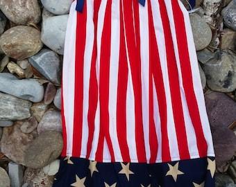 Girl's Patriotic Pillowcase Dress