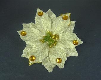 Poinsettia Flower, Christmas Hair Clip, Holiday Hair Clip, Christmas Hair Accessories