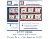 Blue Ribbon Designs - Patriotic Wishes - Bundle (2 Charts) - Cross Stitch Charts
