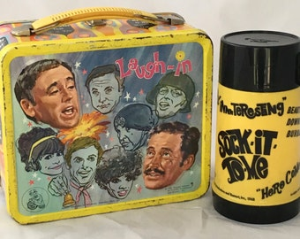 1970 Laugh-In Lunchbox and Thermos - Really Great Vintage Condition