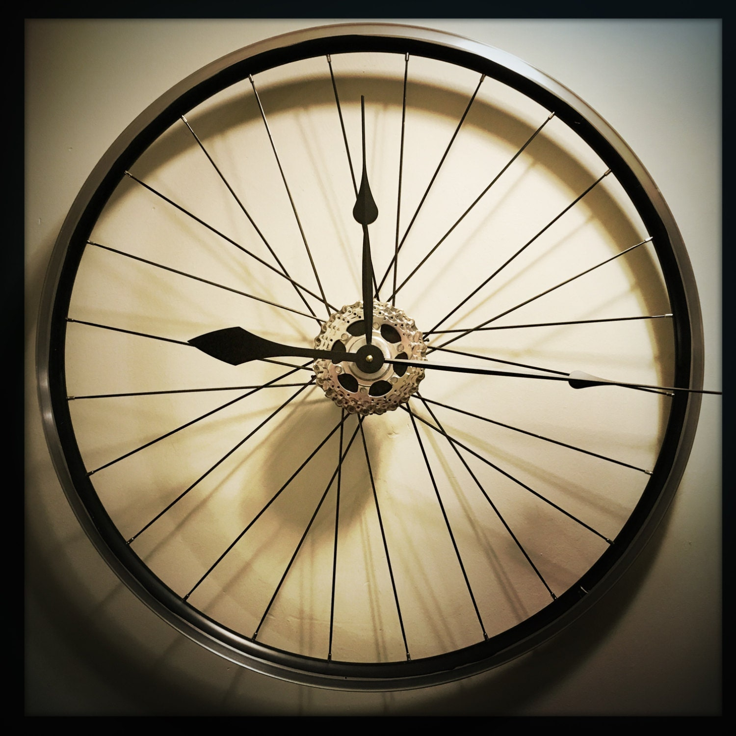 Wall Clock Bicycle Wheel Clock Large Wall by DreamGreatDreams