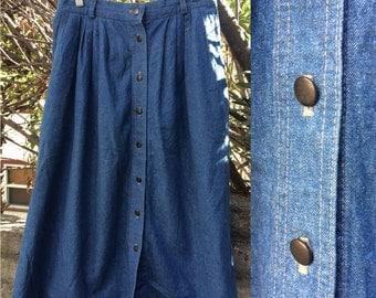 Blue Denim Koret Midi Skirt