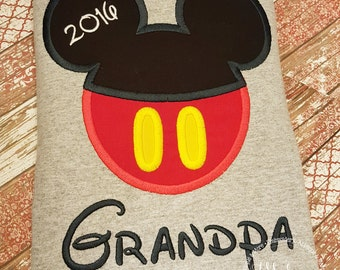 Boy Mouse Custom embroidered Disney Inspired Vacation Shirts for the Family! 868