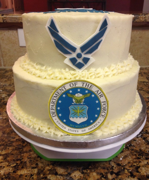 Items similar to air force cake decorations on etsy for Air force cakes decoration