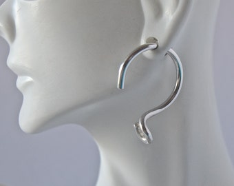 10 Gauge Sterling Silver Hoop Earrings