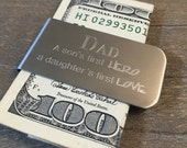 CUSTOM Money Clip, Personalized Gift for Father's Day, Anniversary, Wedding, Graduation, groomsman, Gift For Him