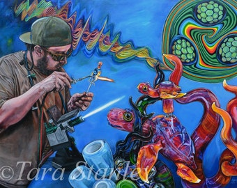 """Behind the Fire Giclee Print, """"Turtle Glass"""""""