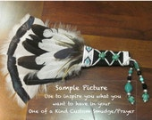 Larger Custom-made for you OOAK Feather Ceremonial Prayer, Smudge Fan, Abalone Shell, Sage,  Wicca, Pagan, American Indian Ceremony
