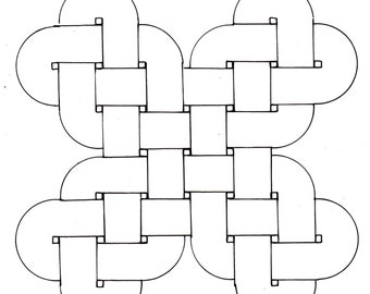 Download Roman mosaic pattern -Double guilloche as saltire (10mm)