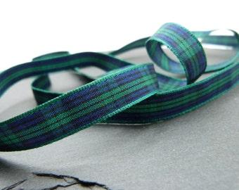Blackwatch Scottish Tartan Ribbon 10mm Wide Berisfords Per Metre