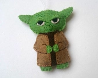 YODA - felt Star Wars ornament, SW inspired home decoration for men for women for him for her may the force be with you - May4th