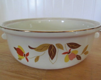 Autumn Leaf Hall Jewel Tea Casserole Dish