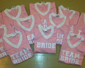 Team Bride Jersey T-shirts