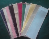 12 LARGE  Book Marker Blanks  14ct Aida  All colour avalible