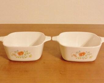 Vintage 70's/ 80's Corning Ware mini cassarole dishes