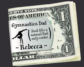 Gymnastics Dad   Fathers Day Gift   Dad Gift   Gift for Dad   Dad Gifts   Husband Gift   Personalized Money Clip   Korena Loves