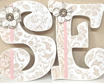 Nursery Letters, Baby Name, Wall Letters, Girl Nursery Decor, Personalized Baby Shower Gift, monogram, kids wall art