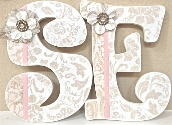 letter a name for girl nursery letters baby name wall letters nursery decor 12003