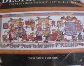Sew Mice Friends - Counted Cross Stitch Kit