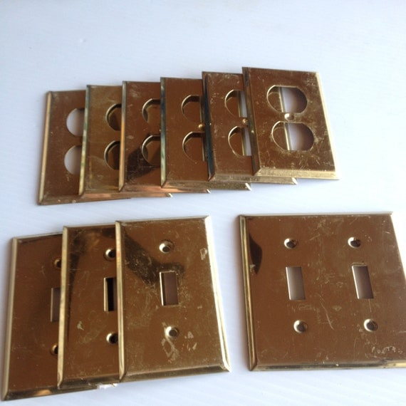 10 brass electrical outlet covers electrical switch covers Electrical outlet covers