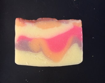 Artistic soap - Calypso Days - Artisan Soap - handmade - Virgin Islands - soap - pink soap - pink