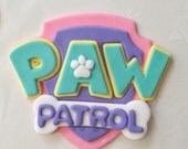 2- Girl Paw Patrol Inspired Fondant cake toppers