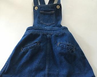 Adorable vintage denim jumper dress