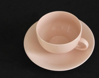 vintage pink teacup & saucer made in Japan