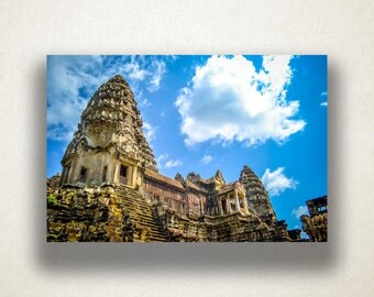 Cambodian Temple Canvas Art, Temple Wall Art, Religious Canvas Print, Cambodian Wall Art, Photograph, Canvas Print, Home Art, Wall Art