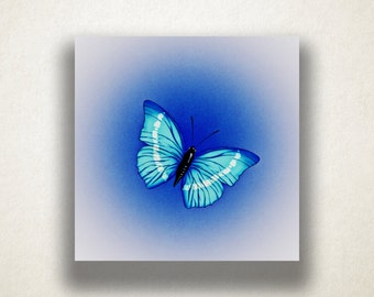 Butterfly Canvas Art Print, Beautiful Butterfly Wall Art, Blue Canvas Print, Artistic Wall Art, Canvas Art, Canvas Print, Home Art, Wall Art