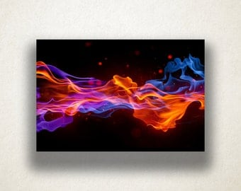 Abstract Flames Canvas Art Print, Flame Wall Art, Colorful Canvas Print, Close Up Wall Art, Canvas Art, Canvas Print, Home Art, Wall Art