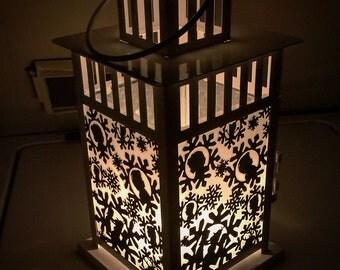 Fronzen Inspired Patterned Portable Lantern