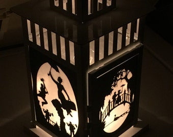 Mary Poppins inspired Metal Lantern