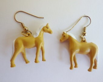Vintage Palomino Pony Earrings
